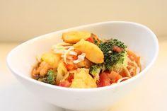 Fish Soup in Tomato-Saffron Broth with Broccoli, Cauliflower and Cabbage #MarksDailyApple