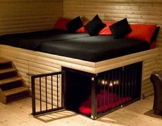 I'd need a whole staircase to get into bed if I did this for my Danes but love the ides of it :)