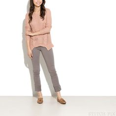 Gray pants - They appear to be work appropriate (?) and I like the straight/skinny fit
