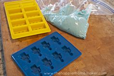 DIY Lego man and Lego Brick Chocolates-perfect for Lego Birthday Parties via The Happier Homemaker