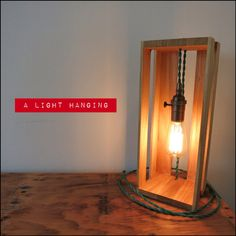 A light hanging - Edison pendant light in a box on Etsy, $85.00