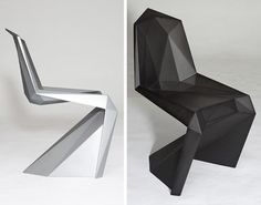 If you're a fan of the classic Verner Panton S Chair, chances are you might love this Lo Res Chair from design group United Nude. Each chair is hand molded and comes standard in a matte silver or matte black finish