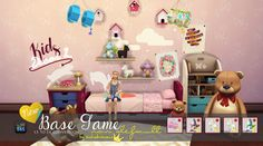 The Sims 4 | In a bad Romance Kids Room Deco 3t4 Conversion Playable Unicorn & Dragon & Deco Kite | buy mode new objects toys