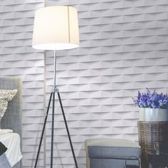 papier_peint_intisse_3d_origami_blanc