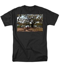 Bradley Creek Men's T-Shirt (Regular Fit) featuring the photograph Peace By The Creek by Cynthia Guinn