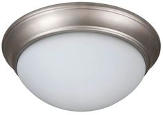 Jeremiah Lighting XPP13-2W Pro Builder Premium Flush 2 Light Flush Mount Ceiling Brushed Satin Nickel Indoor Lighting Ceiling Fixtures Flush Mount