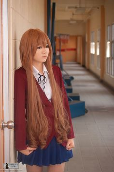 Toradora: Taiga. CUTE and damn perfect hair :)