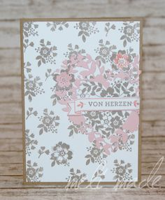 Stampin'UP! Karte Blooming Heart