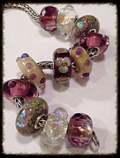 One bead can set the tone, for the entire bracelet! The center flower bead was the inspiration!
