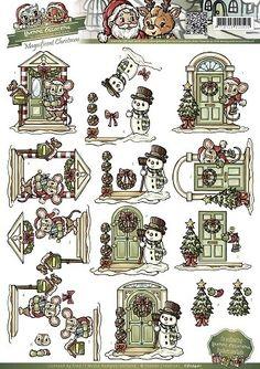 Nieuw bij Knutselparade: 4807 Yvonne Creation's knipvel kerst CD10401 https://knutselparade.nl/nl/kerstmis/1479-4807-yvonne-creation-s-knipvel-kerst-cd10401.html Knipvellen, Kerstmis - Yvonne Creations