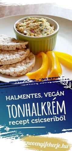 Vegán recept! Tonhalkrémre emlékeztető ízvilággal! Tökéletes kence a reggeli pirítóshoz vagy mártogatóshoz. Próbáld ki te is! A receptet a képre kattintva tudod megnézni. #vegán #tonhalkrém #vegánmártogatós #vegánreggeli #vegánpástétom #pástétom #pástétomok #vegan #veganreggeli #veganpastetom #pastetom #recept #receptek #magyar #csicseri #csicseriborso #veganprotein #protein #fehérje #feherje #natúrprotein #natúrfehérje #növényifeherje #novenyifeherje Naan, Cereal, Protein, Breakfast, Food, Morning Coffee, Essen, Meals, Yemek