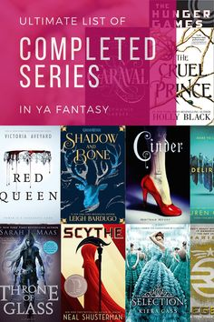 Completed Series in YA Fantasy - - If you love young adult fantasy book series, you won't want to miss this incredible collection of the best series in the genre! Books You Should Read, Best Books To Read, Ya Books, Book Club Books, Great Books, I Love Books, Art Of Books, Must Read Book Series, Best Books For Teens