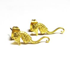 Seahorse Stud Earrings, $52, now featured on Fab.