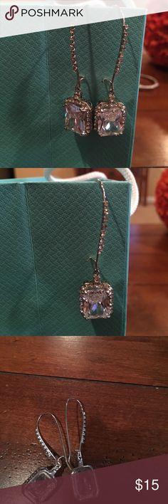 """Betsey Johnson crystal drop earrings 2"""" drop Betsey Johnson crystal drop earrings with rhinestones. 2"""" drop Betsey Johnson Jewelry Earrings"""