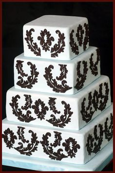 Wedding Cakes Pictures: black and white