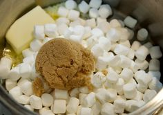 Ooey-gooey popcorn entails marshmallow sweetness poured over buttery popcorn for the perfect sweet and salty treat.