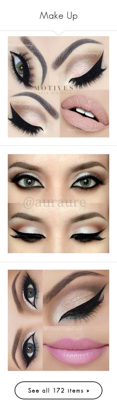 """""""Make Up"""" by daisybrooke ❤ liked on Polyvore featuring beauty products, makeup, eye makeup, eyes, beauty, lips, eye brow makeup, gel eye liner, brow makeup and gel eyeliner"""