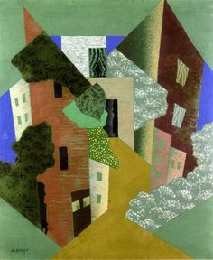 Leopold Survage - A Town with Trees. 1919. Private collection
