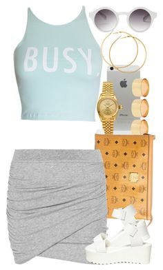 """""""Untitled #1354"""" by power-beauty ❤ liked on Polyvore featuring ASOS, Rolex, MCM, ComeForBreakfast, James Perse, Steve Madden, Monki and H&M"""