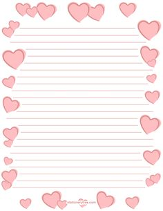Printable romantic stationery and writing paper. Free PDF downloads at http://stationerytree.com/download/romantic-stationery/