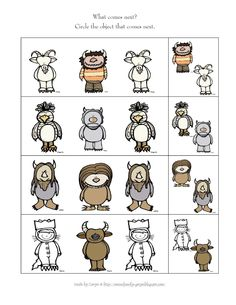 Preschool Printables: Where the Wild Things Are