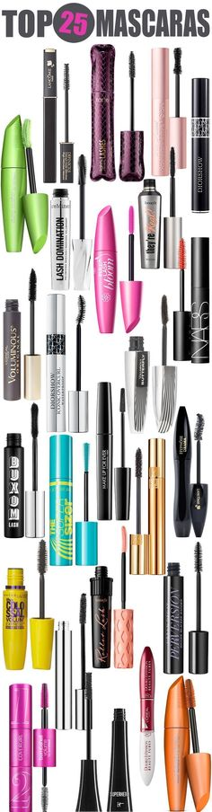 Top 25 Mascaras — From drugstore mascara to department store mascara, this list has the top mascaras to keep in your makeup bag! #diymascara