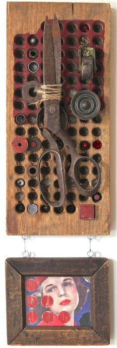 assemblage art by mike bennion - 'always a woman'