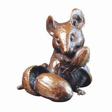 Solid Bronze Mouse With Acorns Michael Simpson Limited Edition of 250