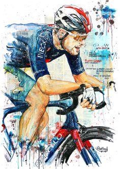 """""""TOO FAST!"""" Filippo Ganna, INEOS Grenadiers, gewinnt die 4. & 5. Etappe des Etoile de Bessèges 2021 (100x70cm)"""
