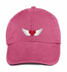 Dad hat,Heart with wings,dad hat, Cap embroidery, Dad cap,embroidery,machine embroidered by NeedleArtGR on Etsy