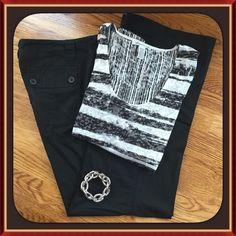 Black Cargo Pants Black Cargo Pants New York & Company Pants