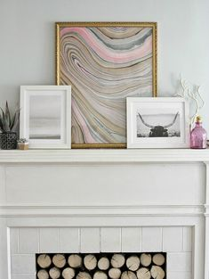 Create marbled art with this tutorial.