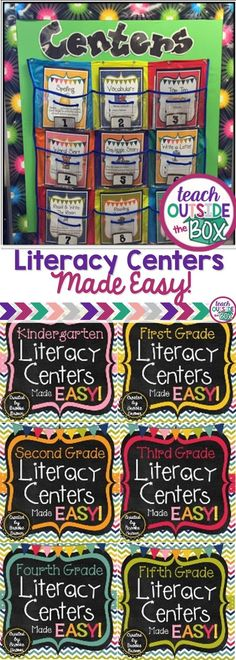Hands down, the EASIEST and most engaging way to organize and manage literacy centers in your elementary classroom! via @mrsbrookebrown