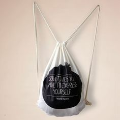 Express Yourself Drawstring Bag, $13, now featured on Fab.