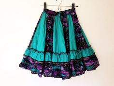 Vintage 1980s Malco Modes emerald gypsy ruffle by sevendevils, $40.00
