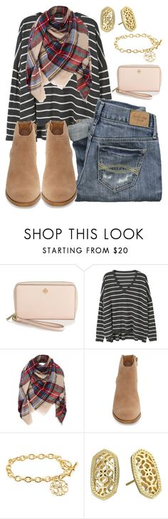 """""""When you're on your knees and answers seem so far away, you're not alone; stop holding on and just be held."""" by swwbama ❤ liked on Polyvore featuring Tory Burch, MANGO, Lucky Brand, Abercrombie & Fitch and Kendra Scott"""