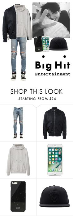 """""""BigHit Audition"""" by officialjae ❤ liked on Polyvore featuring RtA, PS Paul Smith, MANGO, Native Union, Stussy, men's fashion and menswear"""