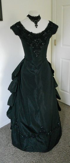 Steampunk Ball Gown | ... , Gothic, Steampunk, Alternative prom dress, Bustled ball gown