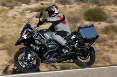 2014 BMW R 1200 GS Adventure with accessory aluminum side cases.