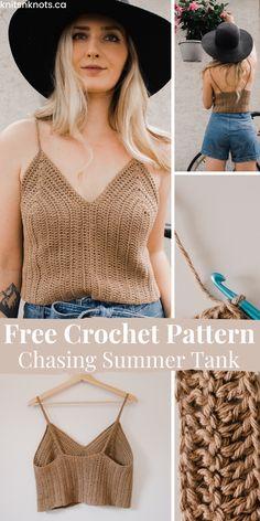 Crochet Summer Tops, Crochet Halter Tops, Crochet Blouse, Summer Knitting, Crochet Crop Top, Knitted Tank Top, Crochet Designs, Crochet Patterns Free Tops, Free Crochet Top Patterns