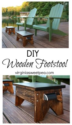 DIY Wooden Footstool Tutorial - Learn how to make your own! virginiasweetpea.com