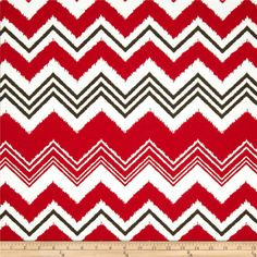 Premier Prints Indoor/Outdoor Zazzle Rojo from @fabricdotcom%0A%0APremier Prints outdoor fabrics are screen printed on spun polyester and have a stain and water resistant finish. These fabrics withstand direct sunlight for up to 500 hours making them both durable and versatile, perfect for outdoor settings and indoor living in sunny rooms, great family friendly fabric! Create decorative toss pillows, chair pads, placemats, tote bags and much more. To maintain the life of the fabric bring…