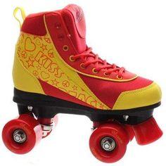 Luscious Retro Quad Roller Skates - Ruby Reds - Uk 6 06 Child