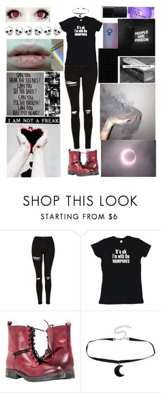 """"""";"""" by ticci-toby13 ❤ liked on Polyvore featuring Topshop, Sykes, Hot Topic and NARS Cosmetics"""