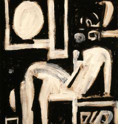 Moralis Yannis - Funerary Composition VII, 1963 Vinavyl glue on canvas, 79 x 73 cm Donated by the artist inv. Greek Paintings, National Gallery, Ecole Art, Unusual Art, Greek Art, Art Archive, Art Database, Aboriginal Art, Conceptual Art