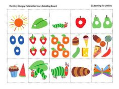 colourful, fun, printable resource for use with The Very Hungry Caterpillar book study or Spring unit of work.A colourful, fun, printable resource for use with The Very Hungry Caterpillar book study or Spring unit of work. Very Hungry Caterpillar Printables, Hungry Caterpillar Food, Hungry Caterpillar Craft, Caterpillar Book, Chenille Affamée, Retelling Activities, Story Retell, Eric Carle, In Kindergarten