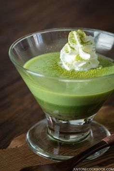 Green Tea Pudding   Easy Japanese Recipes at JustOneCookbook.com