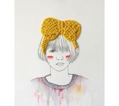 Izziyana Suhaimi ilustración, bordado, acuarela.