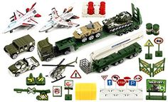 Special Heavy Army Force 40 Piece Mini Diecast Childrens Kids Toy Vehicle Playset w Variety of Vehicles Accessories * See this great product.Note:It is affiliate link to Amazon.