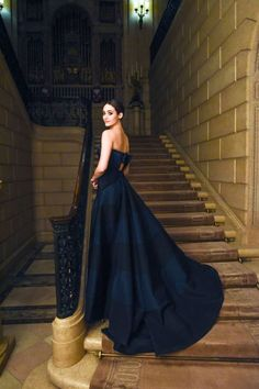The top 5 chicest looks from the Young Fellows Ball here: Emmy Rossum in Carolina Herrera
